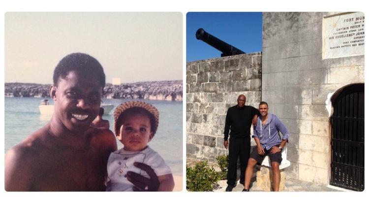 (Rick Fox & his dad, Ulrich (from RickFox blog)