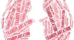 Kidney transplantation Word cloud illustration