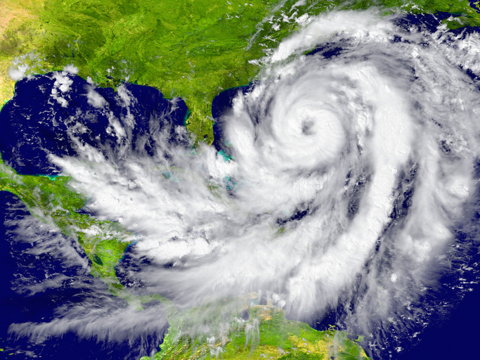 Huge hurricane between Florida and Cuba. Elements of this image furnished by NASA