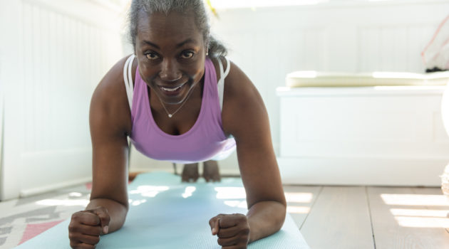 work out mature woman