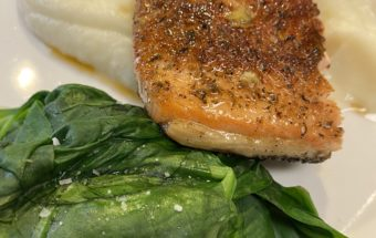 'Black Is Beautiful' Blackened Salmon with Mashed Cauliflower